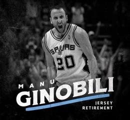 Manu Ginobili Jersey Retiremen...